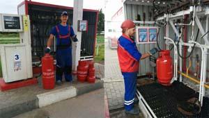 Газовый баллон 50 литров заправить пропаном.