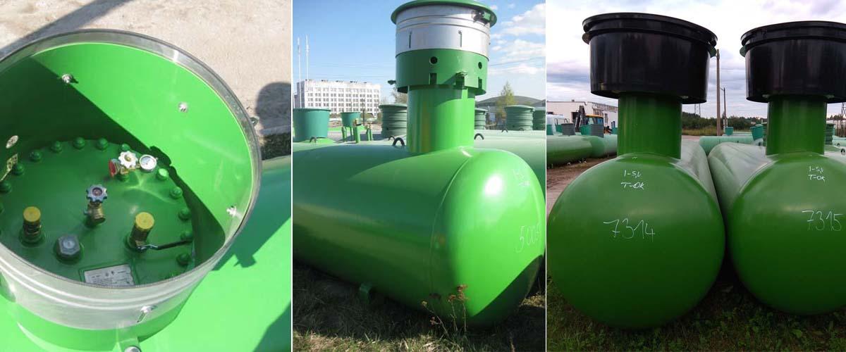 Газгольдер подземный 10 м3 10000 литров с высокой горловиной.