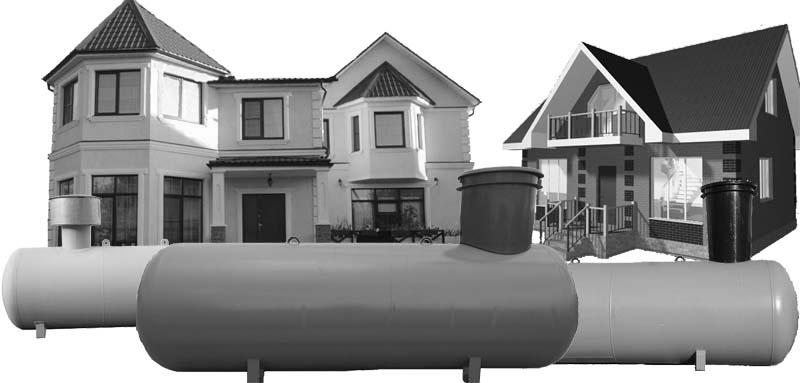 газгольдер для частного загородного дома