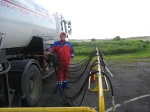 заправке газгольдера газом в СПб