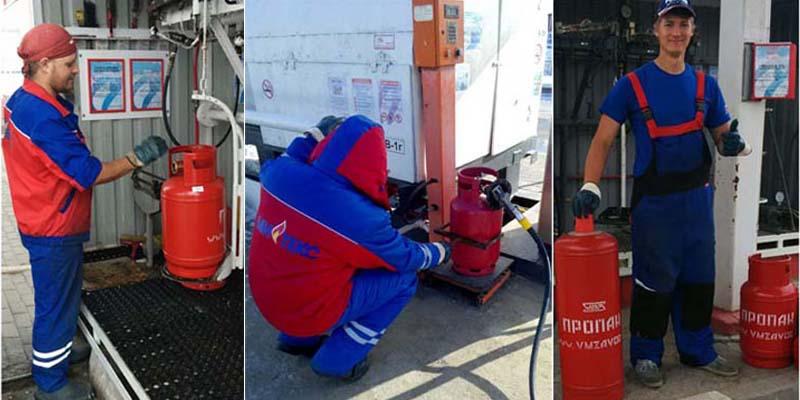 Заправка газовых баллонов цена