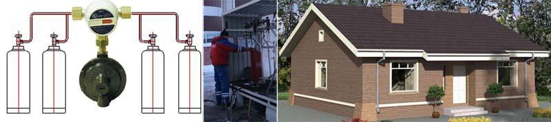 Заправка газовых баллонов отопление дачи