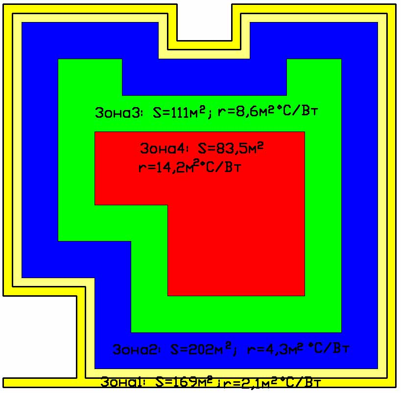 План цокольного этажа коттеджа 1350 кв. м.