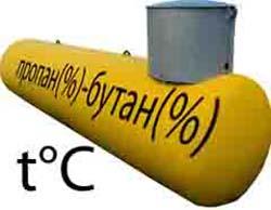 Цена заправки газгольдера летним и зимним газом