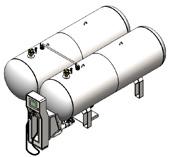 Модульная АГЗС на 4800 литров в наземном исполнении c резервной емкостью