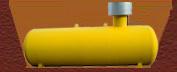 Газгольдер с высокой горловиной в котловане