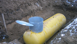 резервуар под газ заземление