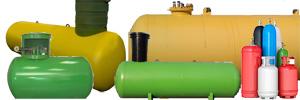 резервуары для хранения газа разных типов