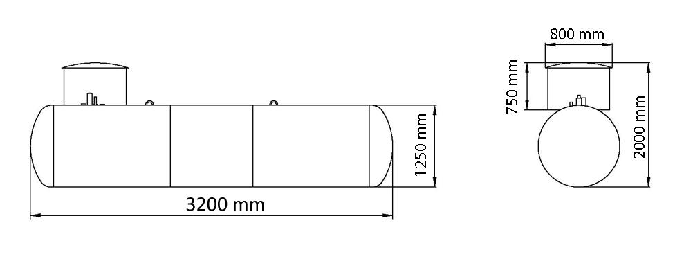 газгольдер для коттеджа 3,6 м3 по оптимальной цене.