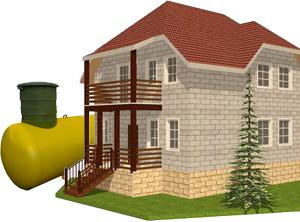 Газгольдер с высокой горловиной для загородного дома
