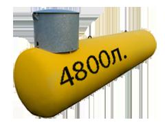 Газгольдер подземный 4,8 м3 с люком 500 мм. цена в СПб.