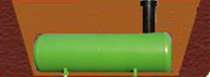 подземная емкость для газа монтаж