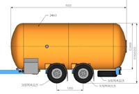 Автоцистерна 24000 литров для сжиженного газа цена в СПб.