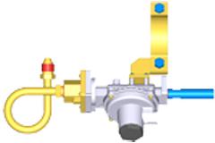 Двухступенчатый регулятор давления RJ125-A, тип соеденения:RJ125-2.