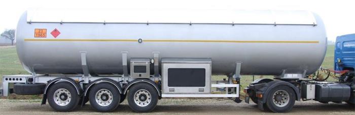 LPG ПОЛУПРИЦЕП 50м³  с тягачом, со спец. оборудованием для контроля частичного отлива цена в СПб