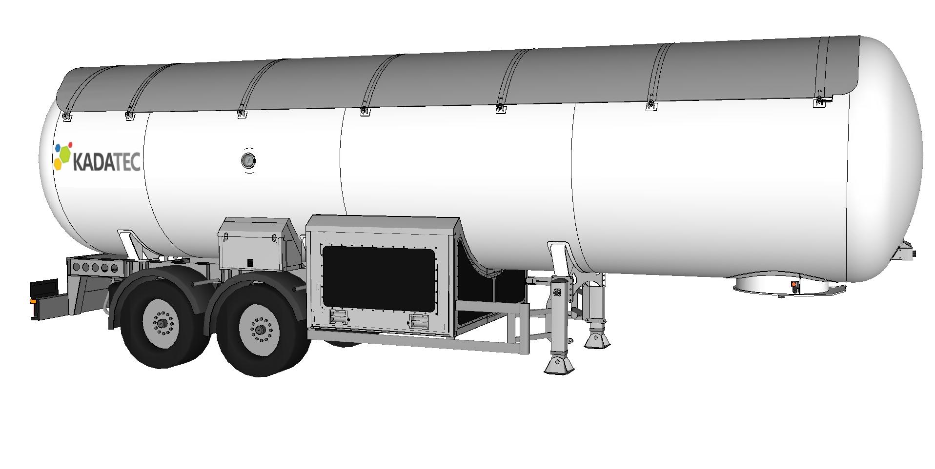 LPG автоцистерна-полуприцеп 43м³ без  спец. оборудования цена в СПб