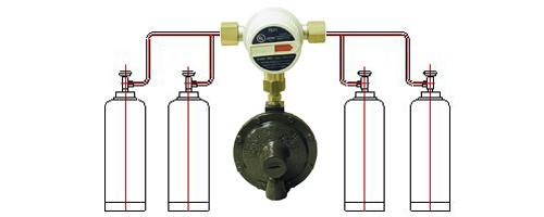 4-х баллонная установка Митекс 4 кг/час 37/50 мбар с автоматическим переключающим клапаном цена в СПб