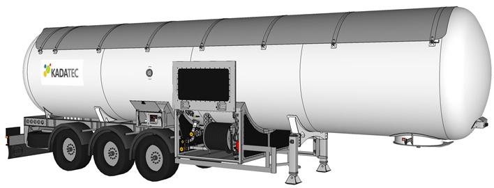 LPG ПОЛУПРИЦЕП 48м³ без тягача, со спец. оборудованием для частичного слива цена в СПб