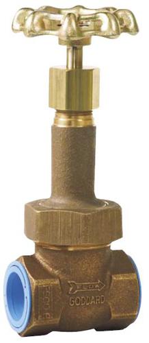 """Бронзовый запорный клапан Goddard Серия 302, 1/2"""" (15 mm) цена в СПб"""