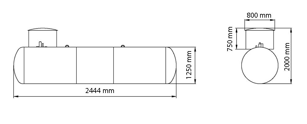 Газгольдер подземный  2,7 м3 «Стандарт» цена в СПб
