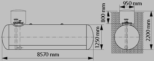 Газгольдер 10м3 с погружным насосом Red Jacket цена в СПб