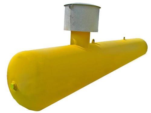 Газгольдер подземный 10 м3 двустенный d=1250 мм.