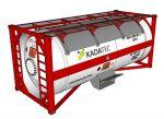 Емкость СУГ для транспортировки газа 23.9м3 в ISO-контейнереKC240/20