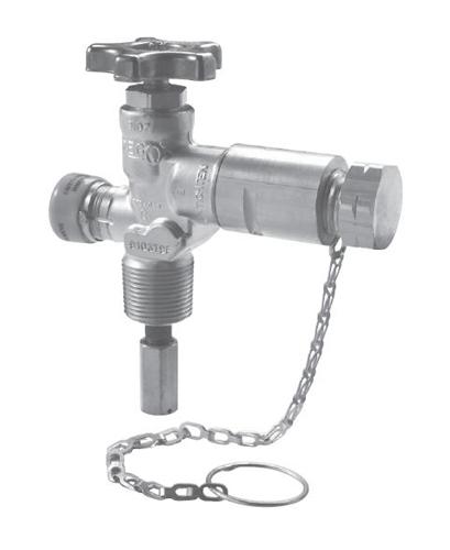 Клапан для отвода паров REGO Серия 9103T, 1/4 NGT цена в СПб