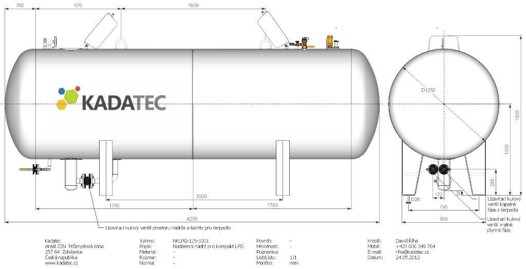 Газгольдер 4.8 м3 надземный cо встроенным насосом Red Jacket