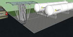 Модульная АГЗС с двумя емкостями по 10 м3 в надземном исполнении