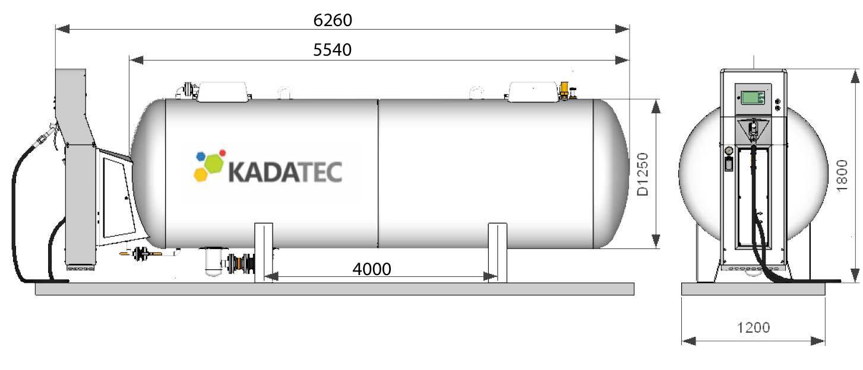 Модульная АГЗС с емкостью 6,4 м3 в надземном исполнении цена в СПб