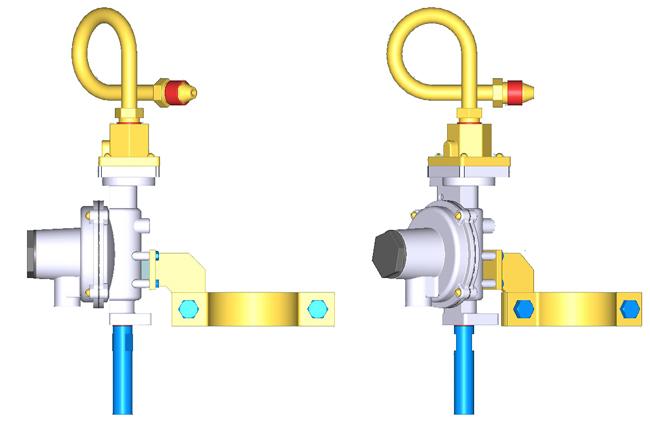 Двухступенчатый регулятор давления RJ125-A, тип соеденения:RJ125-2 цена в СПб
