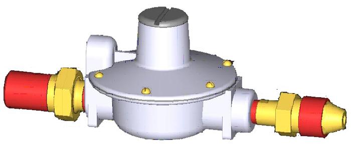 Одноступенчатый регулятор давления RJ125-B, тип соеденения RJ125-3 цена в СПб