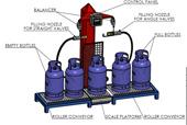 Весы электронные для заправки газовых баллонов.