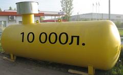 Газгольдер подземный 10 м3 10000 литров с высокой горловиной купить.
