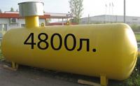 Газгольдер подземный 4,8 м3 4800 литров с высокой горловиной цена в СПб.
